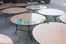 Banquet wooden folding wedding round table