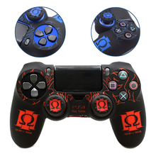 PS4 Controller Wireless Joystick Pattern Skin Cover Protective Silicone Color Case Soft Touch for Sony <strong>Playstation</strong> 4 Pro Slim