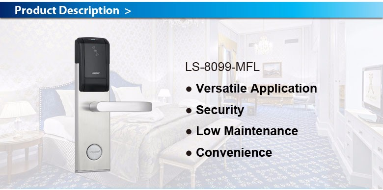 LS8099 Best Selling High Quality Hotel Lock Key card door entry systems