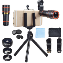 mobile phone detachable camera new 2016 12x telephone optics lens kit for cell phone camenra