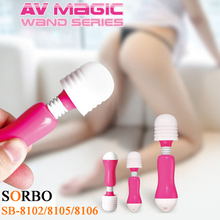 SORBO Cheaper Factory Price Female Masturbation Toys / Mini AV Magic Wand Body Massager / Adult Sex Toys Online Shop India