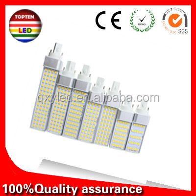 LED Corn Bulbs 12W PL G24 E27 PLC LED Lamp 64SMD5050 Equal to 130W Halogen Lamp AC85-265V Real Power Horizontal Plug Lights