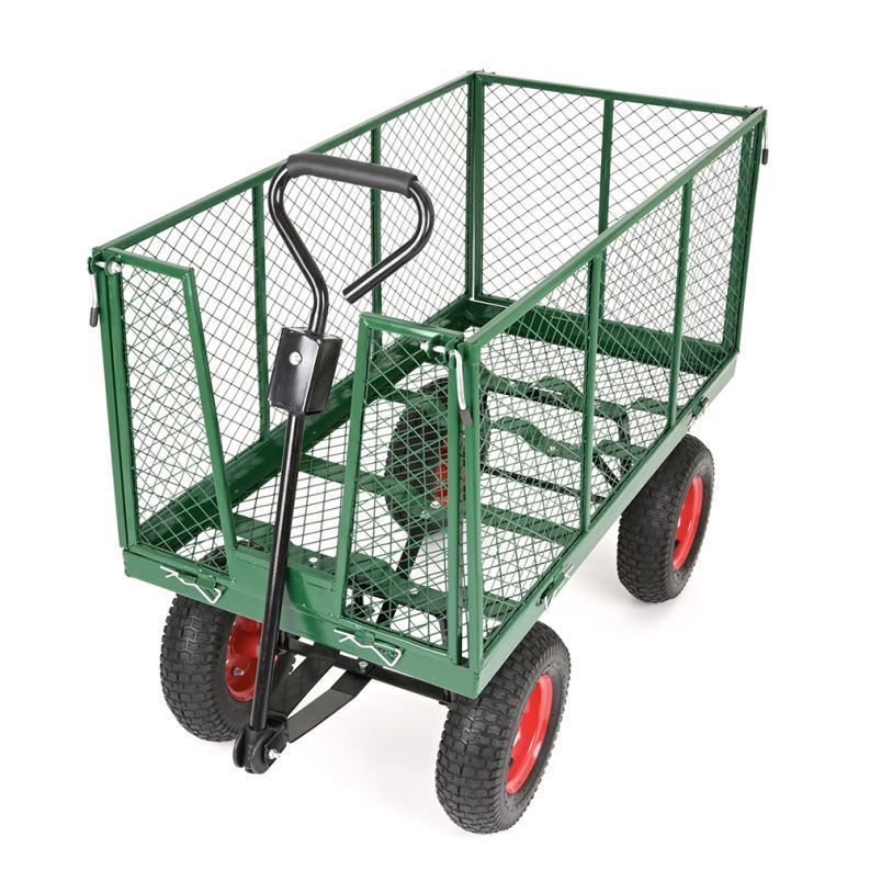 4 wheels heavy duty hand pulled garden trolley ht703