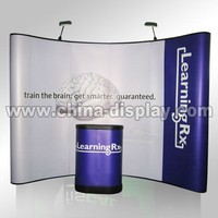 10feet exhibition booth display stand with podium case