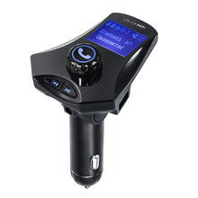 GXYKIT M7S 1.44 LCD car fm transmitter with line out function car charger with Bluetooth headset