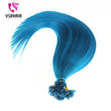Russian remy human hair keratin bond flat tip hair extensions