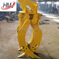 360 rotatable rock grapple for crane