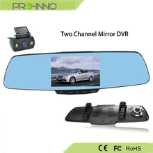 Car Rear View Mirror Camera Recorder dual channel camera H.264 video format