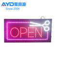 16X16 Inch LED Business Sign LED Open Sign with Scissors