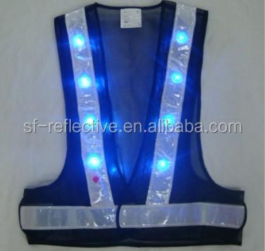 high vis shirt jacket led reflective cycling vest gilet led safety clothing flashing jacket