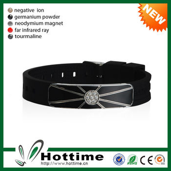 Hottime Original 4in1 Bio Elements Energy Custom Adjustable Silicone Wristband With Logo