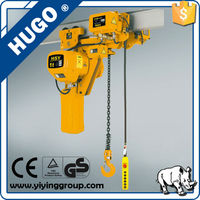 electrical workshop equipment 1t electric trolley chain hoist with crane motor