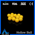 16.75mm yellow hollow plastic ball decorative hanging clear plastic balls