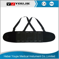 4 Metal Splints Support Black Back Spine Protective Brace for Worker