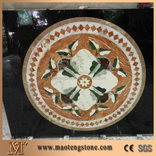 Natural stone water jet rectangle marble floor medallions patterns