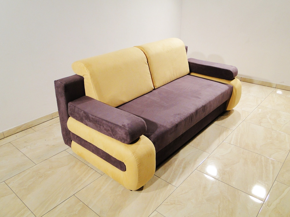 New unique sofa bed MELANIE - Pillows with velcro/Storage/Sleeping function !