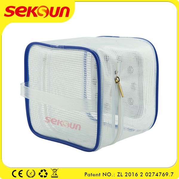 2016 Seksun Solar Powered Led Camping Lantern With Inflatable Led Light Cosmetic Bag