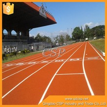 Red or blue color running track ,13mm synthetic rubber running track