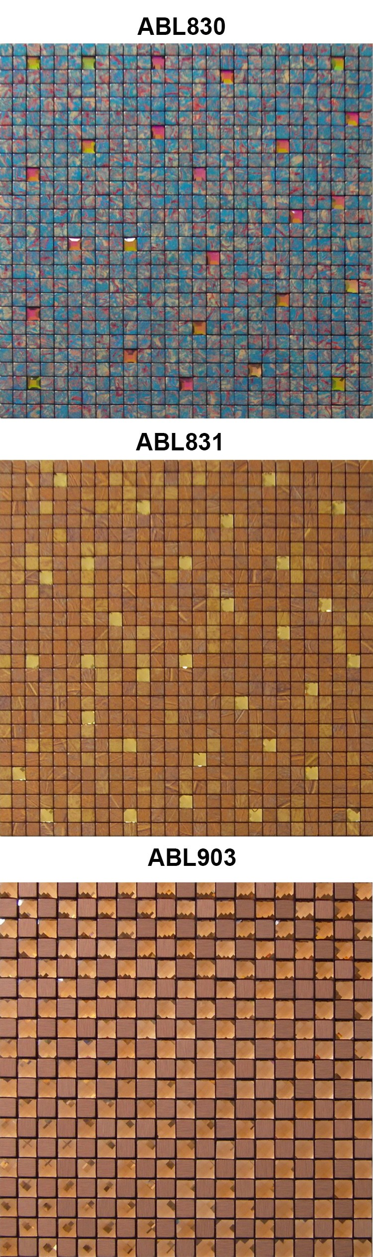 Building Materials Metal Mosaic Tile Bathroom Design Home Decoration Gold Modern kitchen Cheap Mosaics China Supplier ABL11