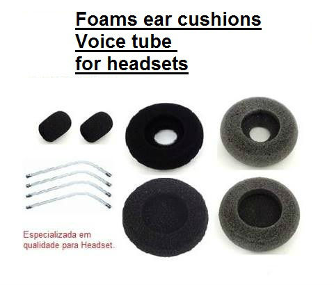Ear Cushions Headsets/ Voice Tube -