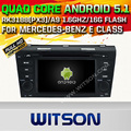 WITSON Android 5.1 AUTO CAR DVD GPS For MERCEDES-BENZ E CLASS WITH CHIPSET 1080P 16G ROM WIFI 3G INTERNET DVR SUPPORT