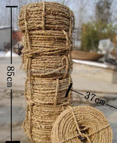 Knitting Rope Machine : Straw rope knitting machine making