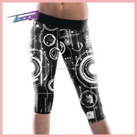 Custom Sublimation Printed Compression Tights capris