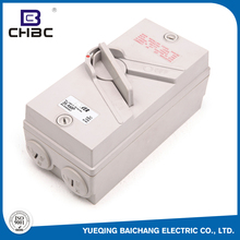 CHBC High Quality Waterproof Plastic 500V 63A Disconnector Isolating Switches