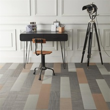 ZNZ eco-friendly material superior quality woven fabric vinyl plastic flooring