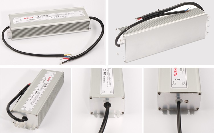 China Manufacturer 200w Waterproof 12v switching power supply ac/dc led driver