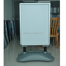 Aluminum water base snap banner large poster board stand forecourt sign