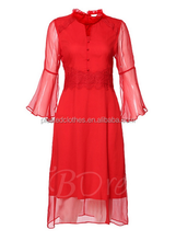 New korea style lace casual lady dress