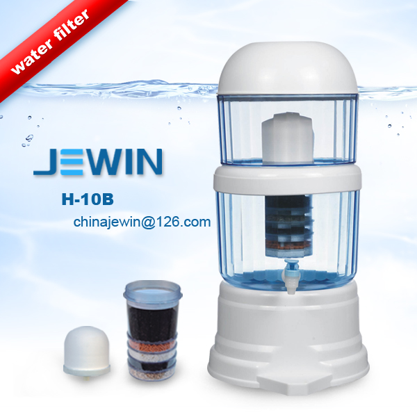 Low price mineral water filter pot with ceramic and cartridge filter
