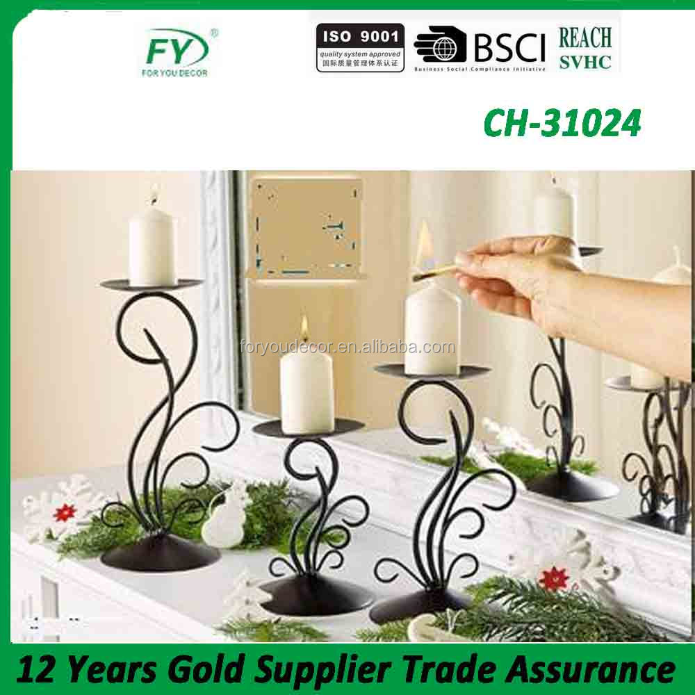 Metal tabletop indoor and outdoor wedding candle holder and 3pcs different size per set CH-31024