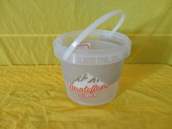 300ml round clear plastic bucket for food container