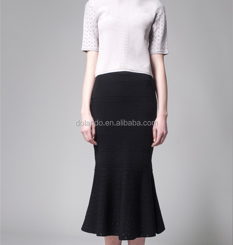 2016 high quality pictures of fish cut long seduction skirts