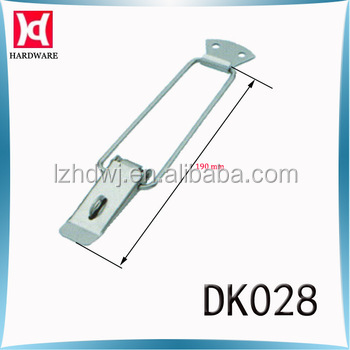 stainless steel over centre latch with locking safety latch hasp and metal clasp lockDK028