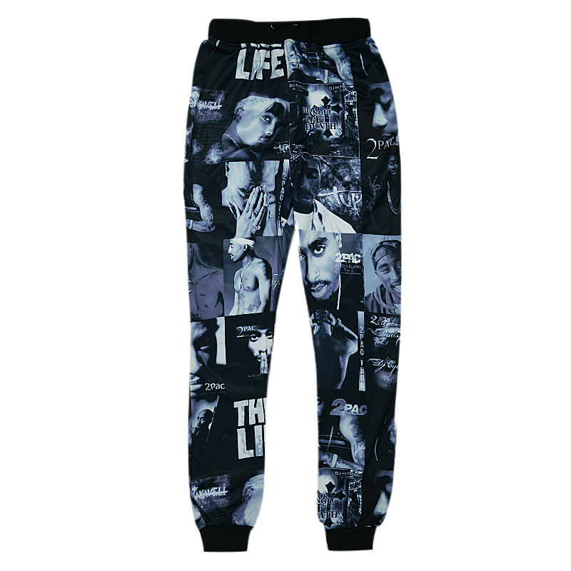 Rock And Roll Fashion Cool Men's Hippie Hip-Hop Polyester Pants