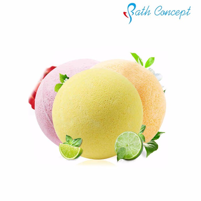 Natural Essential Oils Double Magic Color Bath BOMB Fizzer