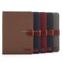Lattice leather case for ipad mini 3 with card slots, wallet PU case for ipad mini quit design
