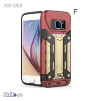 2016 9 Colors Armor PVC Credit Card Holder Mobile Phone Holder Hard Case for Samsung S7/ S7 edge