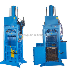 Automatic vertical hydraulic cotton baler textile cloth recycling bailing machine