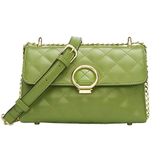 Hot selling light green color leather purses and turkey handbag for girls