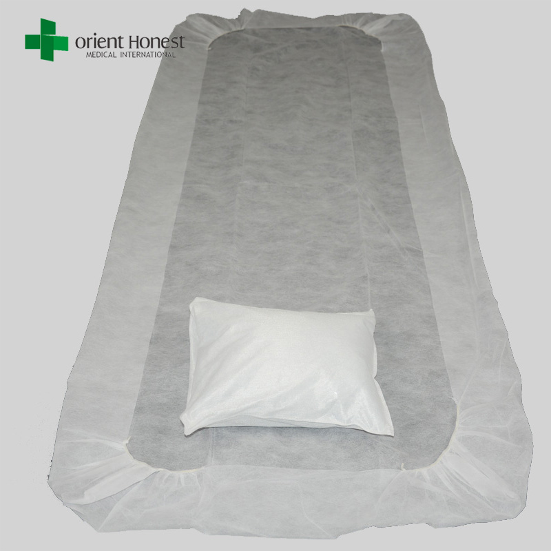 China operating room SBPP bed sheets with pillow covers