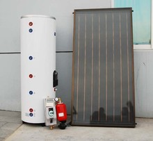 2017 Power Saving two function Stable 200L pressurized heat pipe flat panel solar water heater system
