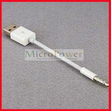 3.5mm Jack to USB Adapter Cable for iPod Shuffle 2nd/3rd/4th (Many Colors)