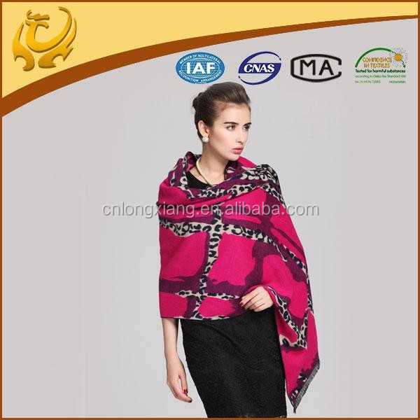 Leopard Jacquard Brushed Indian Shawls Stoles