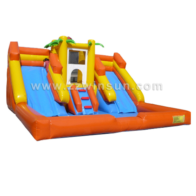 Inflatable ball pool water slide for kids