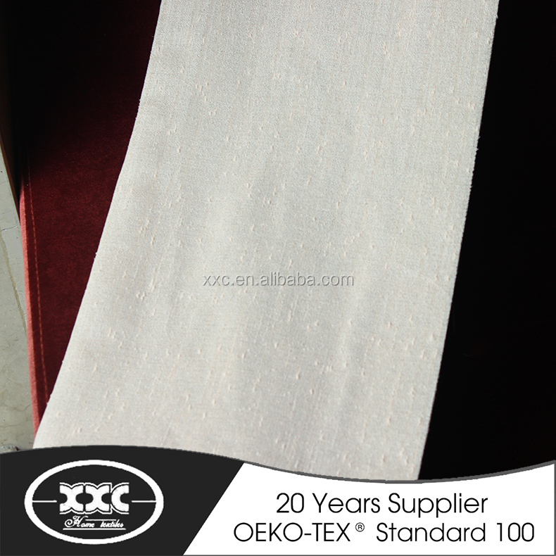 100% polyester linen high quality hot sale sheer shower curtain