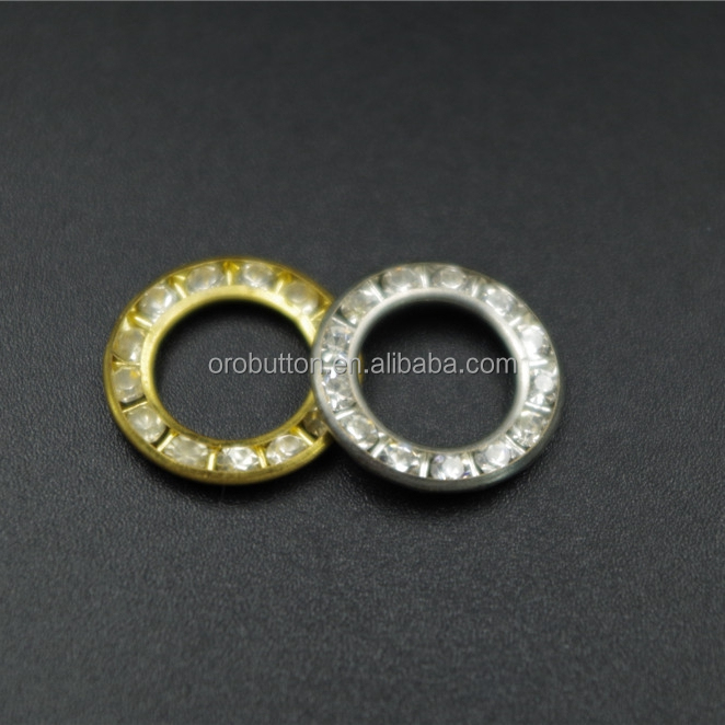 Oeko-tex button 6mm metal rhinestone eyelets for leather